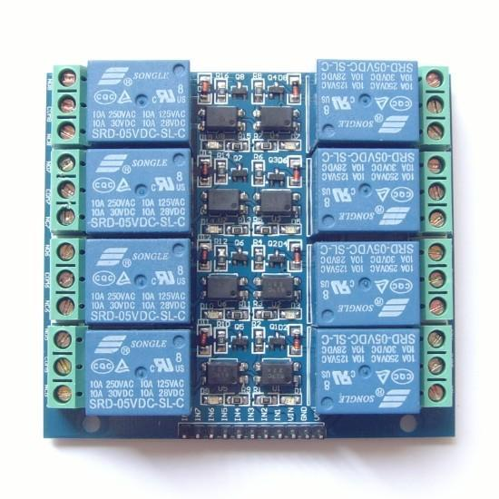 8 channel relay opto-isolated 5V 10A Relay Module for Arduino