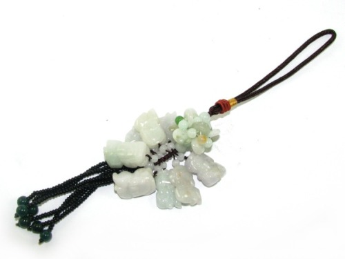 8 Feng Shui Pi Chiu Jade Hanging for Wealth & Gambling Luck - Pi Yao