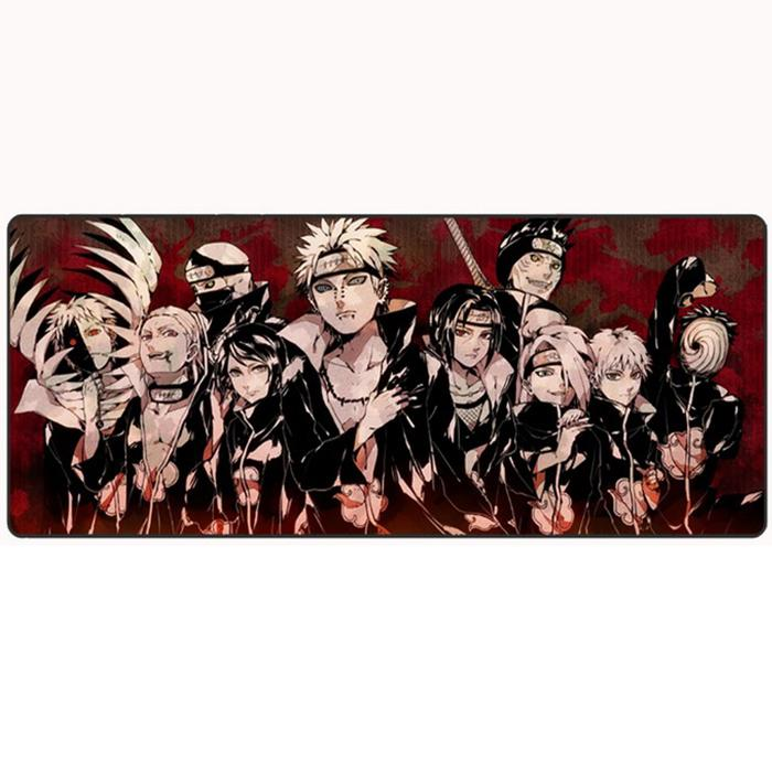 80*30cm Large Mice Mat Mouse Pad for Gaming Multicolor NARUTO