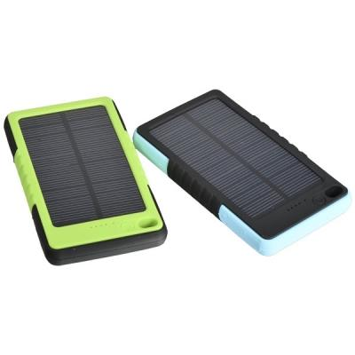 8000mAh Solar Charger Power Bank Mobile Power Station Blue / Green