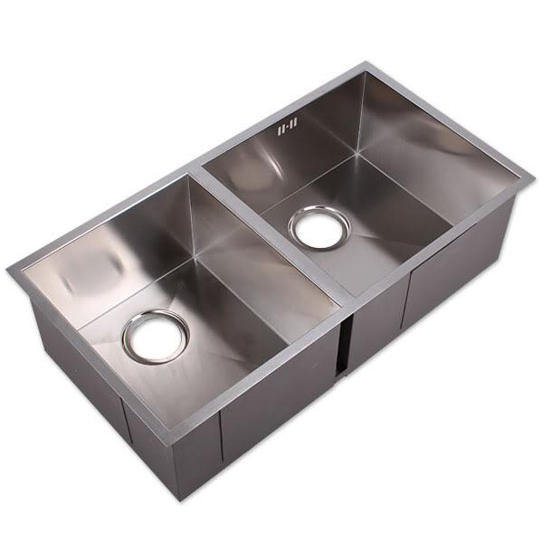 Square Sink Bowl : 800mm SQUARE DOUBLE BOWL STAINLESS (end 4/30/2016 12:15 PM)