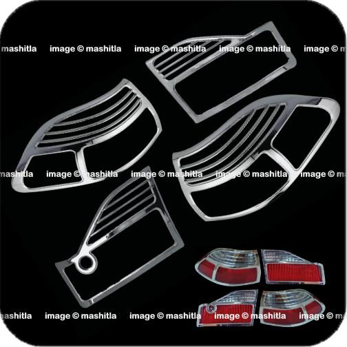 [8041] Honda Accord Chrome Tail Light Trim Rear Lamp Rim Cover Overlay