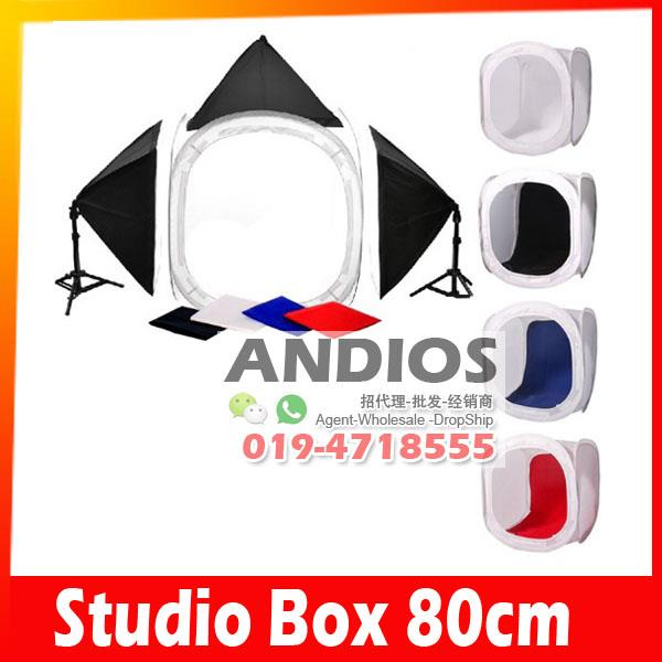 80cm Photo Studio Cube-Light Tent Soft Box Photography Lighting Bulb