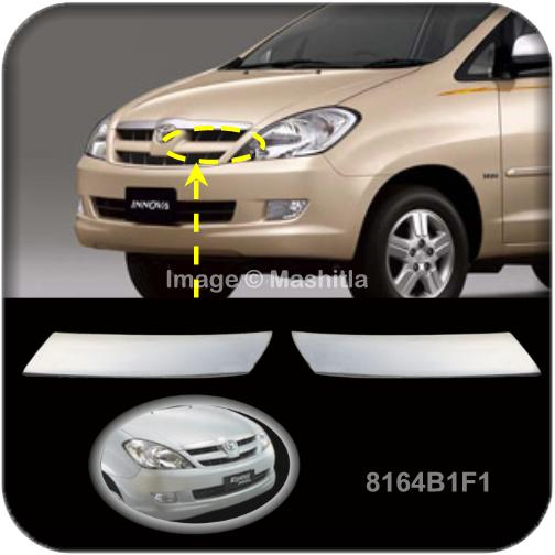 [8164] Toyota Innova Chrome Grill Cover Trims Rim Cover Overlays Bezel