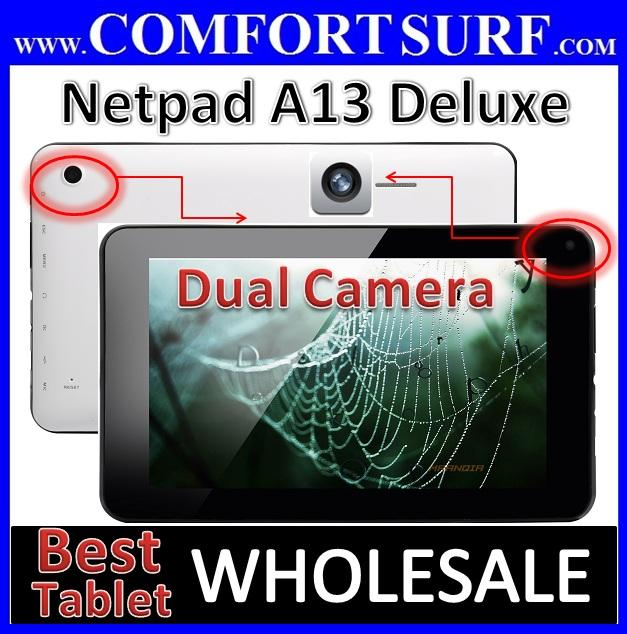 8GB Android 4.04 Netpad A13 Deluxe 1.2GHz - X2 Camera Tablet PC Sanei N77