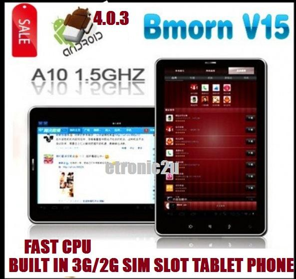 8gb FAST ALLWINNER A10 BUILT IN 3G/2G SIM CARD  7' BMORN V15 TABLET PHONE
