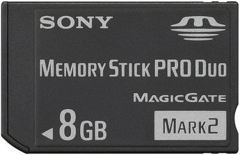 8GB MEMORY STICK PRO DUO MARK 2 MEMORY CARD FOR PSP