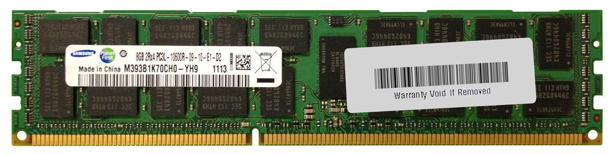 8GB PC3L-10600R REG ECC DDR3L-1333 SERVER RAM (M393B1K70CH0-YH9)