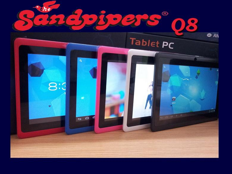 *8GB* SANDPIPERS Q8  A13 TABLET ALLWINNER 1.2Ghz  *1 YR WARRANTY*