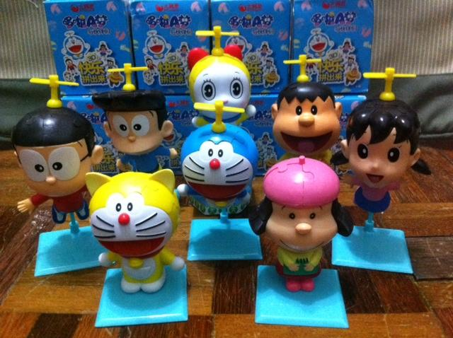 8pcs Doraemon 3D Puzzle Figuine Collection Set