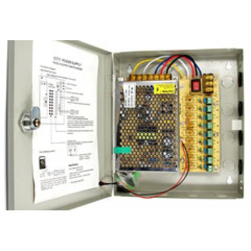 9 Channel Switching Power Supply AC 110-240V to DC 12V 5A
