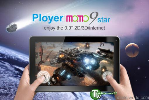 9' inch Android 4.0.4 Ployer Momo9 Star 8GB A13 1.5Ghz tablet PC   ...