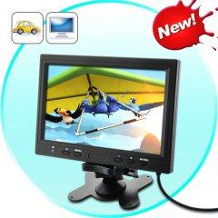 9 Inch LCD Monitor for In-Car Headrest or Stand
