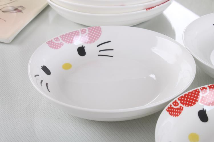 9 inches Hello Kitty Ceramic Rice Plate (Pink)
