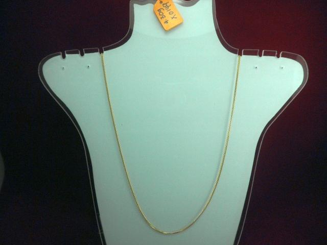 916 Gold Necklace (Rantai Leher)