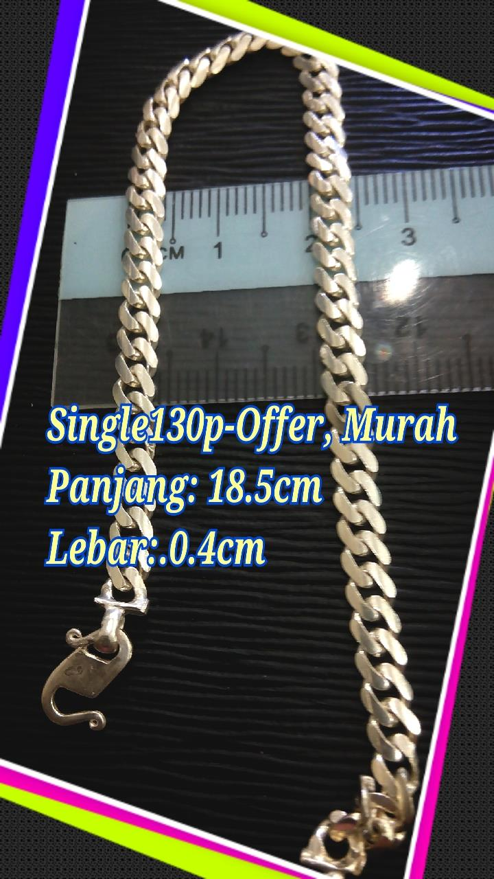 ★★Special Price, gelang tangan silver 925-130P single