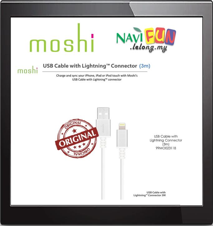 ★ Moshi USB Cable with Lightning Connector (3m)