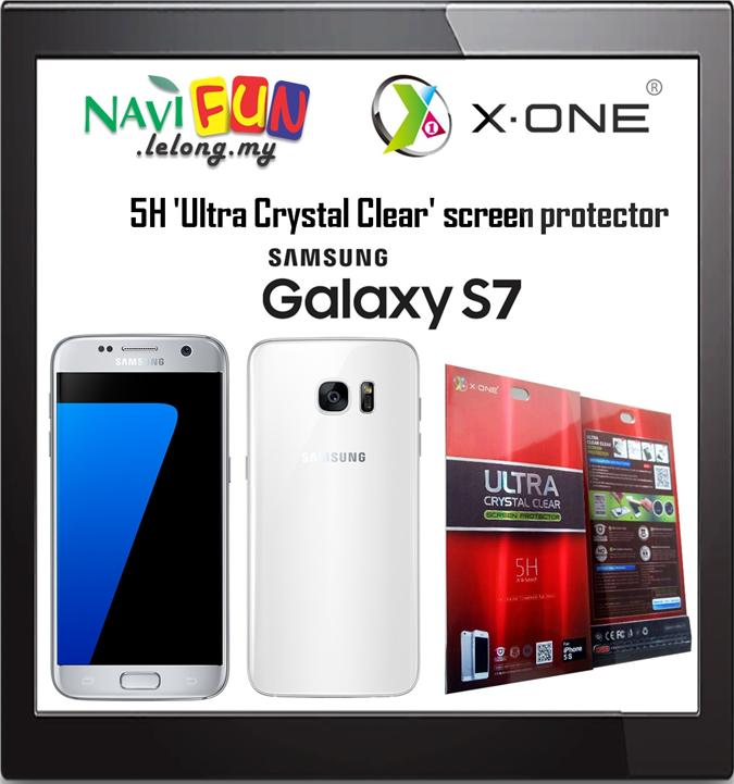 ★ X-One, 5H 'Ultra Crystal Clear' screen protectors - S7