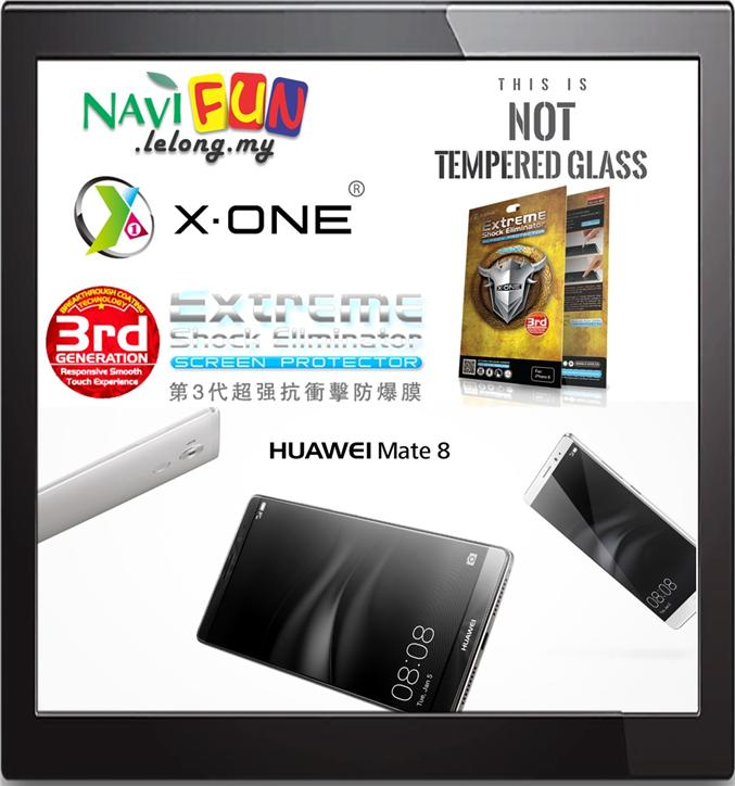 ★ X-One,Extreme Shock Eliminator Screen Protector, Huawei Mate 8