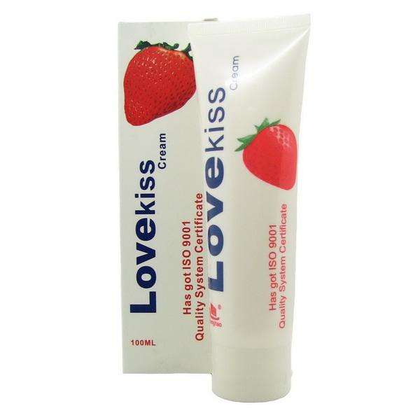 Sex Lubricant : Love Kiss Strawberry Cream (water based)