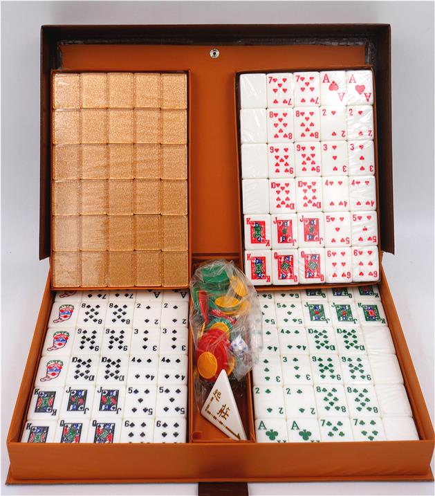 A1 Mahjong Rummy Rose Gold Set
