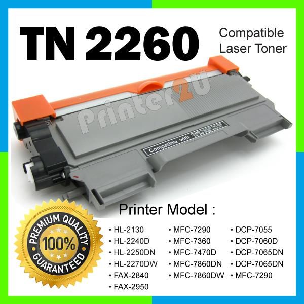 A1 TN2260/TN 2260/2280 Compatible Brother HL-2130 2240D 2250DN 2270DW