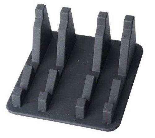 A805 Silicone Anti Slip Mat Phone Holder Stand - Black