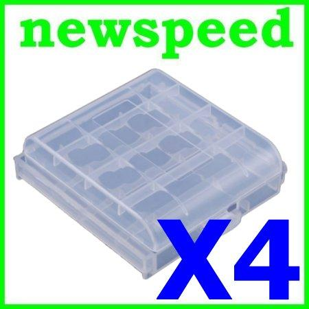 New AA Rechargeable Battery Box Case Container (4pc)