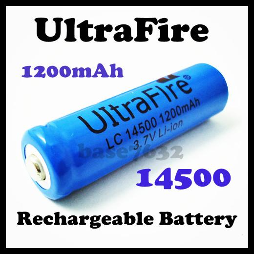 AA  UltraFire 14500 3.7V 1200mAh Rechargeable Battery
