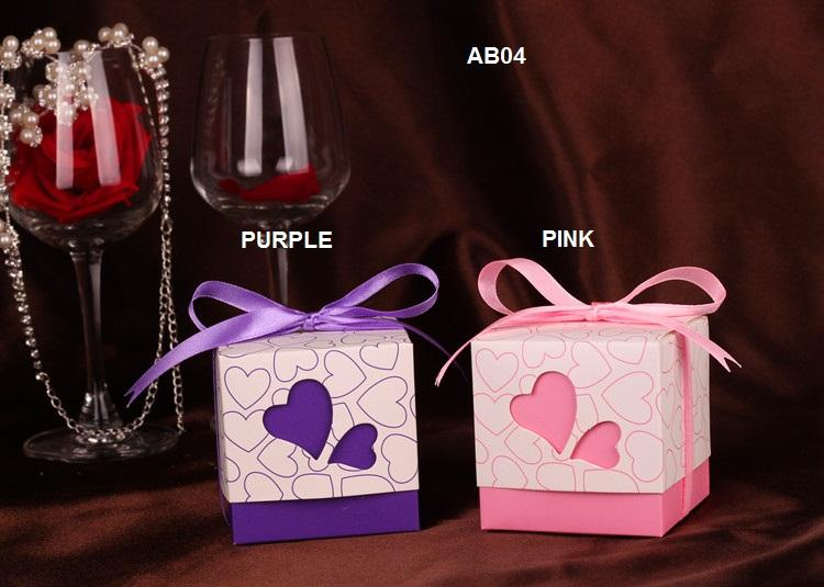 AB04 Lovely Wedding Gift Box / Favor Box (300pcs)