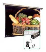 "AB144x144M 144"" x 144"" (12ft x 12ft) size; Motorized Screen"