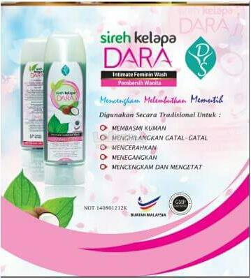 Abkara Secret Feminine Wash Sireh Kelapa Dara 140ml