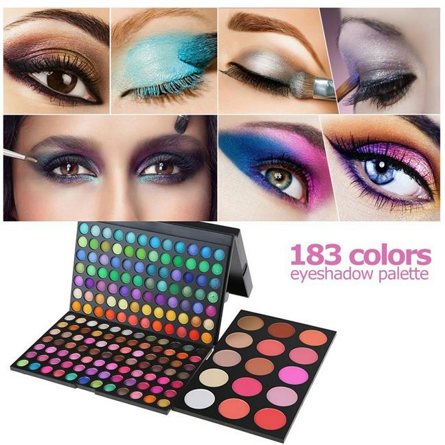 ABODY 183 Colors Professional Makeup Eyeshadow Set Triple-Decker