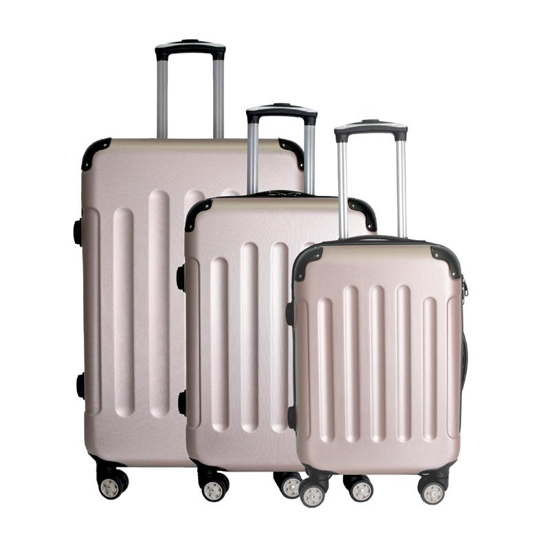 ABS Champagne Protector Bumper Hard Case Luggage Set 20''+24''+28''