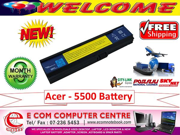 ACER ASPIRE 3680.5500.5050.5570.5580.5550 SERIES LAPTOP BATTERY