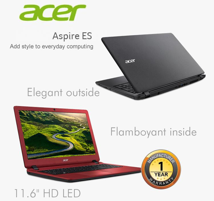 Acer Aspire ES 11 ES1-131-C3R6/ C1YS Notebook-Diamond Black/Ferric Red