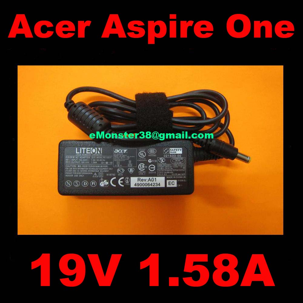 Acer Aspire One A110L A150L A150X UMPC 19V 1.58A 5.5x1.7mm AC Adapte