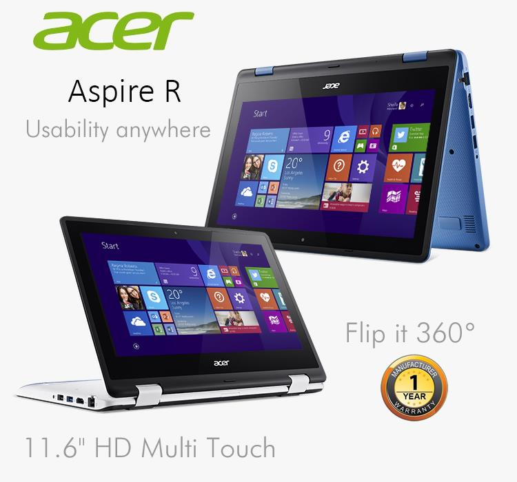 Acer Aspire R11 R3-131T-P1HJ/ P8JN Notebook-Sky Blue/Cotton White