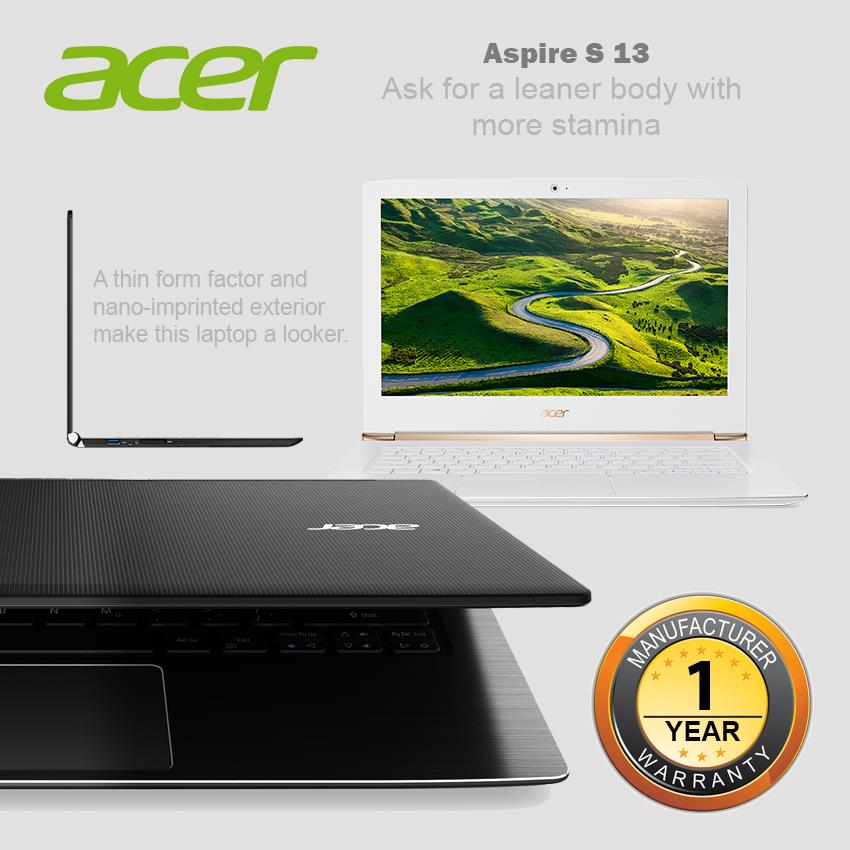 Acer Aspire S 13 S5-371 ( i5-6200/256GB SSD/8GB) Notebook-Black/White
