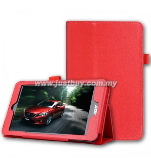 Acer Iconia One 8 B1-810 Leather Case - Red