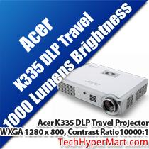 ACER K335 DLP TRAVEL PROJECTOR WITH MHL