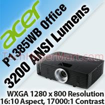 ACER P1385WB OFFICE PROJECTOR
