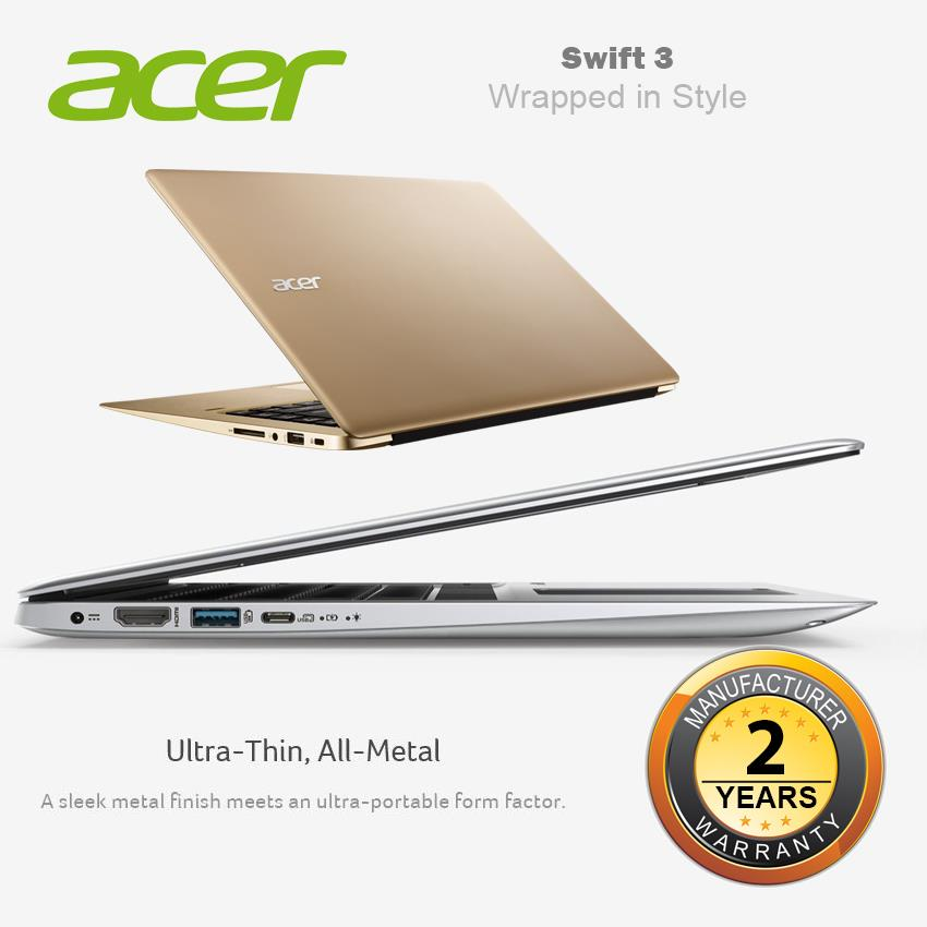 Acer Swift 3 SF314-51-53ZN/57DL Notebook-Luxury Gold/Sparkly Silver