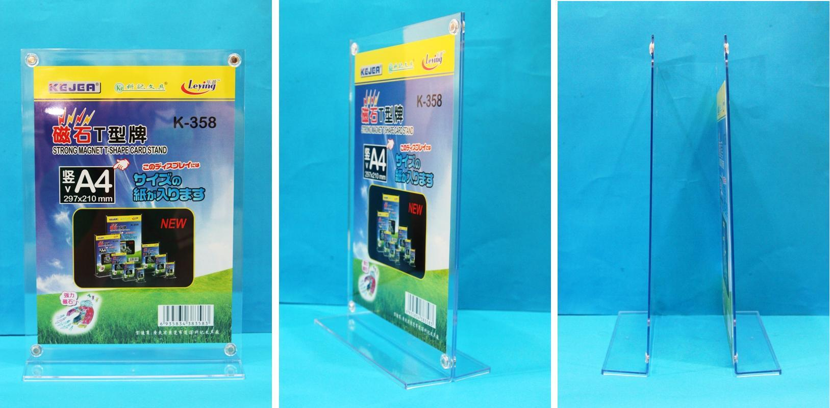 Acrylic A4 Paper Stand A4 Paper Display Stand Holder Magnetic