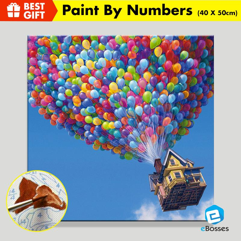 Acrylic Painting Drawing by Numbers 40cm X 50cm UP, Hot Air Ballon etc