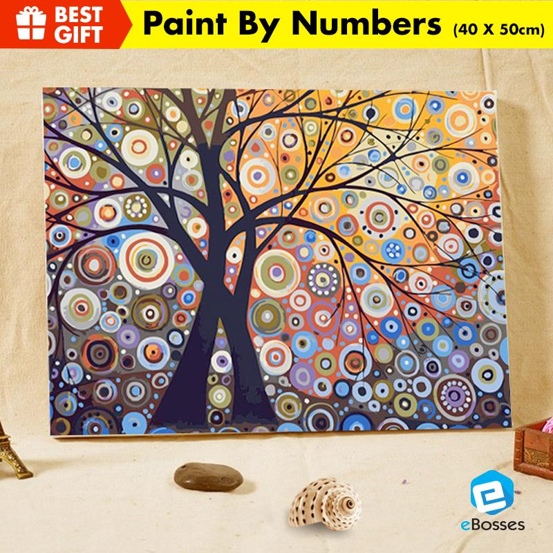 Acrylic Painting Drawing by Numbers 40cm X 50cm LIGHTING TREE