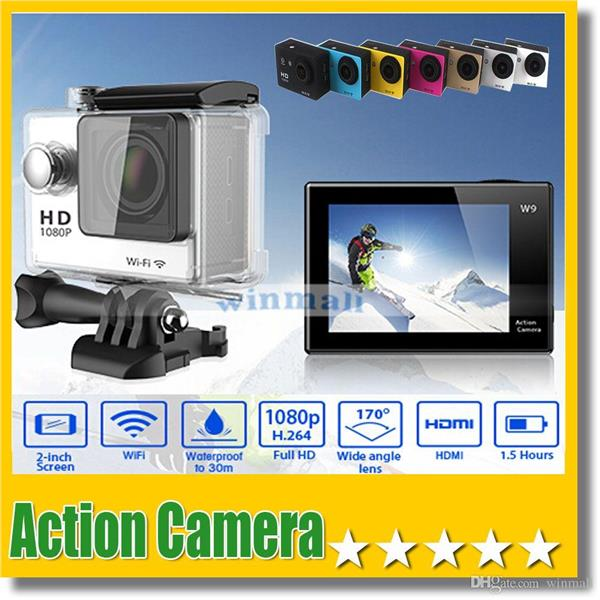 "Action cam w9 2""inch screen /wifi"