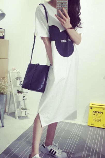AD3717 Fashion Cute Stylish Dress White