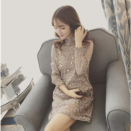 AD6646 Charming Two Pieces Dress Grey