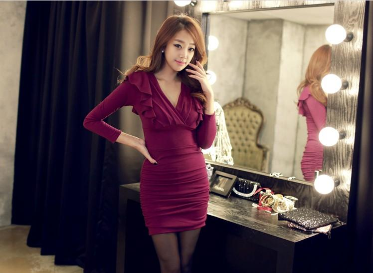 Ad8437 Sexy Body Hugging Dress